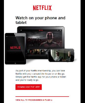 Netflix-mail 2 messaggio di benvenuto