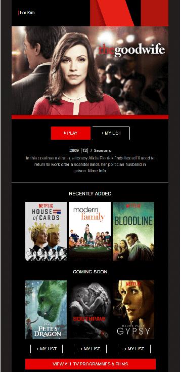 Netflix-mail 7 messaggio di benvenuto